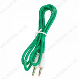 3.5mm Nylon Weaved Male to Male Audio Cable - Green