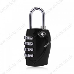 4 Digits Resetable Travel Luggage Suitcase Code Lock - Black