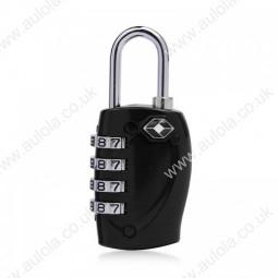4 Digits Resetable Travel Luggage Suitcase Code Lock - Black