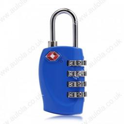 4 Digits Resetable Travel Luggage Suitcase Code Lock - Blue
