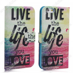 Live the Life You Love Magnetic Flip Stand Case with Pocket for iPhone 6 4.7