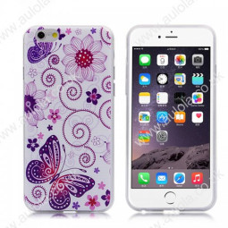 Butterfly and Flowers TPU Phone Case for iPhone 6 4.7