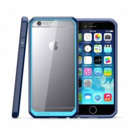 Scratch Resistant TPU PC Transparent Case Bumper Skin for iPhone 6 4.7 - Blue
