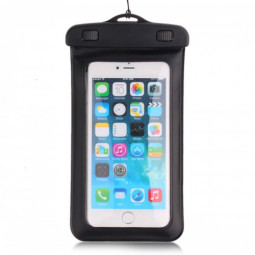 Dual Purpose Waterproof Bag with Plastic Clip phone samsung iphone - Black