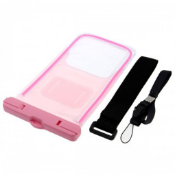 6 inch Fluorescent Waterproof Case Pouch for Samsung Apple iPhone Blackberry Huawei - Pink