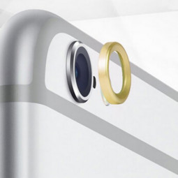 "Moblie Rear Camera Lens Protective Ring for iPhone 6 4.7"" - Golden"
