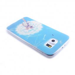 TPU Slim Thin Soft Case Back Cover Skin Shell for Samsung S6 - Dandelion