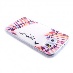 TPU Slim Thin Soft Case Back Cover Skin Shell for Samsung S6 - Color Pens