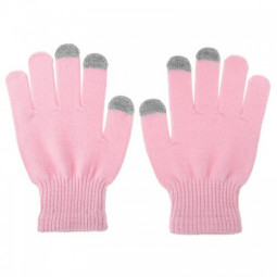 Women Touch Screen Smart Gloves Texting Capacitive for Phone Tablet - Pink