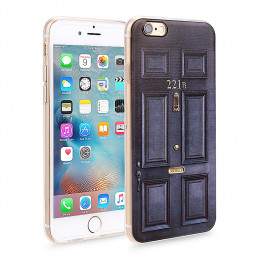 Slim Soft Rubber TPU Back Case Skin for Apple iPhone 6 Plus 5.5 - 221B Door