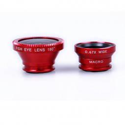 Universal 3 in 1 Camera Lens Wide Angle Fish Eye & Macro