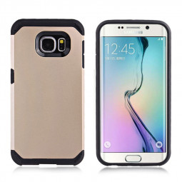 2-in-1 Armour Case Skin for Samsung Galaxy S6 Edge - Gold