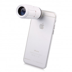 Universal 8x Zoom Telescope Mobile Phone Lens - White