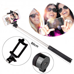 Extendable Handheld Bluetooth Selfie Stick Monopod Pole - Black