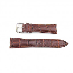 Alligator Pattern Genuine Leather Watchband Straps Band for Apple Watch 38mm - Brown