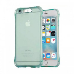 LED Flash Light Reminder Incoming Call Shockproof TPU Back Cover Case for iPhone 6 6S - Blue