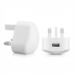 TC136 5V/1A USB travel charger 3 pin UK High Quality Plug - White