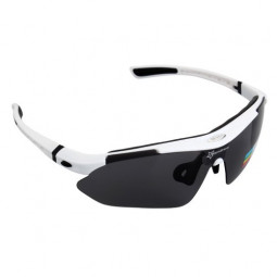 Cycling Bike Riding Sports Polarized UV Protect Goggles Glass Sunglass - White