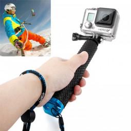 Handheld Extendable Pole Monopod Selfi Sticker with Screw for GoPro Hero 4/3+/3/2 - Blue