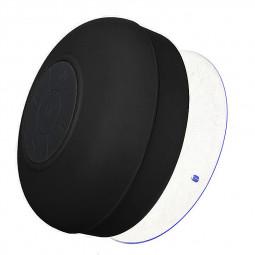 Waterproof Mini Portable Hands-free Bluetooth Speaker with Sucker - Black