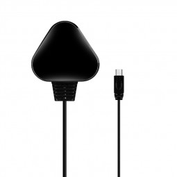 TC036 5V/1A  UK Plug Micro USB Charger Plug with Cable for Smartphones - Black