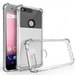 5inch Google Transparent Cushion Technology Shock Absorber Phone Case for Google Pixel
