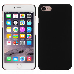 Multicolor Frosted Hard PC Protective Back Phone Case for iPhone 7 - Black