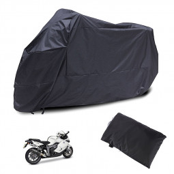 Motorcycle Waterproof Outdoor Motorbike Rain Vented Bike Cover Size XXXXL - Black