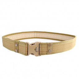 Heavy Duty Canvas Security Guard Army Police Utility Belt - Khaki