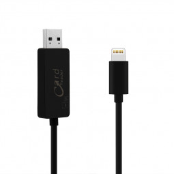 2 in 1 TF Micro SD Card Reader Charging Cable for iPhone 5 6 6S Plus - Black