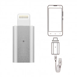 8pin to 8pin Magnetic Adapter Charger Lead USB Charging Cable  Cord for iPhone - Silver
