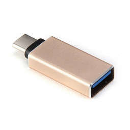 USB Type-C 3.1 Male to USB 3.0 Female Connector Aluminum Alloy Adapter - Gold