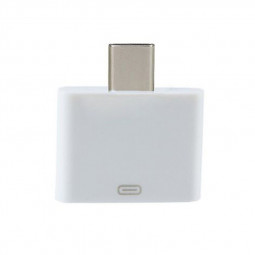 Apple 8pin Female to USB 3.1 Type-C USB-C Male Connector Adapter - White
