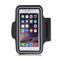 Adjustable Armband Armlet Sports Case Velcro Strap for iPhone 5 5S - Black