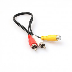6 inch RCA-Female to 2 RCA-Male Splitter Audio Cable