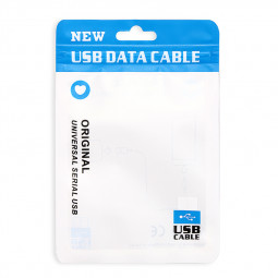 Original Universal USB Data Cable Sealing PE Packing Package Bag for Samsung iPhone - Blue