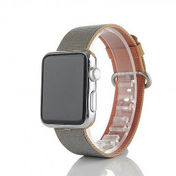 38mm Sports Nylon Strap Watchband for Apple Watch iWatch - Golden