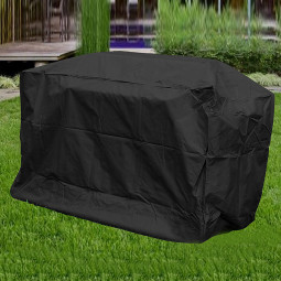 Waterproof Rectangular Outdoor Table Cover Garden Patio Furniture Cover 126cm x126cmx74cm - Black