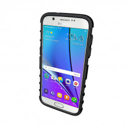 Armour Stand  Shockproof Anti-slip Tyre Texure Case Cover for Samsung Galaxy S7 Edge - Black