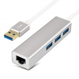 3 Ports USB 3.0 HUB Ethernet LAN Network Adapter for Macbook Air Pro Windows