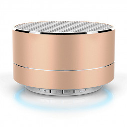 A10 Mini Portable Wireless Bluetooth Speaker for iPhone iPod iPad Samsung - Gold