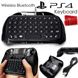 PS4 Bluetooth Wireless Keyboard Chatpad Controller GamePad - Black