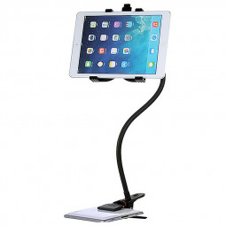 Flexible Long Arms Desktop Bed Lazy Bracket Stand for iPad - Black