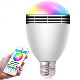 LED Smart Bluetooth Light Bulb Speaker Multicolored Color Remote Controlled