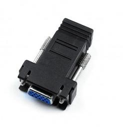 VGA Extender Female to Female LAN RJ45 CAT5 CAT6 Network Cable Adapter