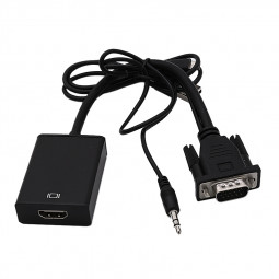 1080P HDMI Female to VGA Male Video Adapter Cable Converter with Audio Out