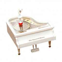 Mechanical Classical Ballerina Girl on the Piano Music Box