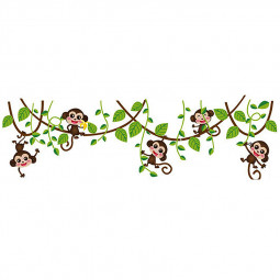 Monkey Climbing Tree Decal Wall Sticker Home Mural Decor Wallpaper
