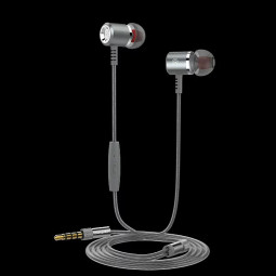 M400 Bass In Ear Music Earbuds Earphone with Mic - Gray