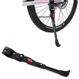 Adjustable Bike Bicycle Cycle Heavy Duty Prop Side Rear Kick Stand - Black